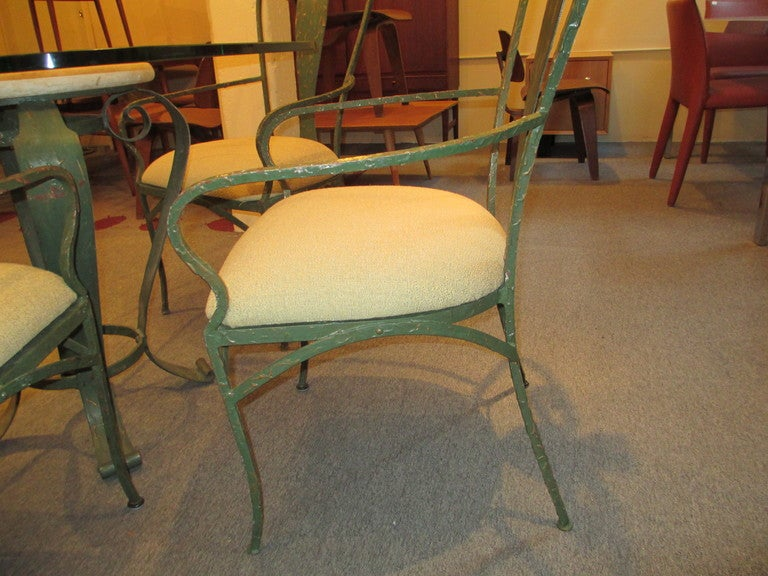 lyrical wrought iron patio table and chairs at 1stdibs